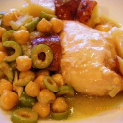 Lemon Chicken Stew With Green Olives recipe