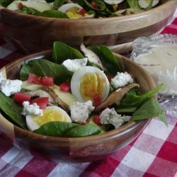 Basil Spinach Salad With Lime Vinaigrette recipe
