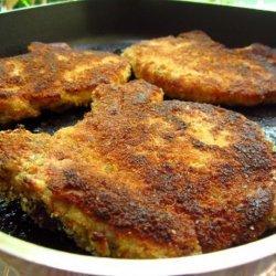 Garlic & Parmesan Crusted Pork Chops recipe