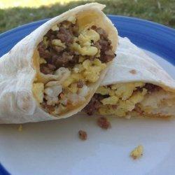 Angels Easy Breakfast Burritos recipe