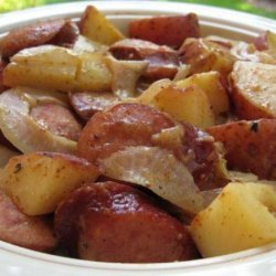 Honey Mustard Kielbasa and Potatoes recipe