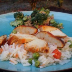 Sweet Chili Chicken With Asian Vegetable Rice recipe