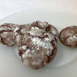 Chocolate Mint Snow Top Cookies recipe