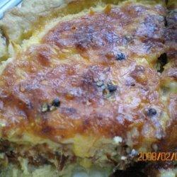 Cheesy Bacon & Sausage Breakfast Quiche recipe