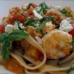 Greek Style Pasta With Shrimp and Feta recipe
