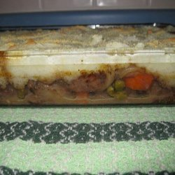 Beef Pot Pie With Mashed Potato Crust recipe