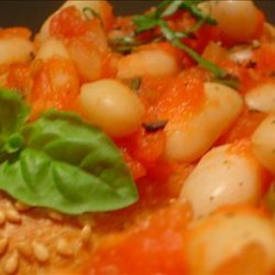 Fast and Low Fat Beans and Tomatoes for a Weeknight recipe