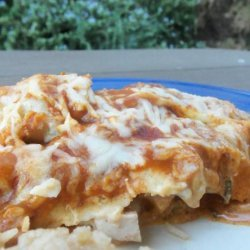 Creamy Cheesy Chicken Enchiladas recipe
