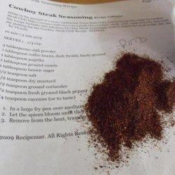 Cowboy Steak Seasoning recipe