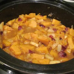 Sweet Butternut Squash With Apples recipe