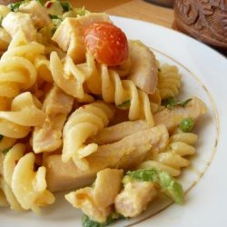 Chicken Pasta Salad in Creamy Curry Dressing recipe