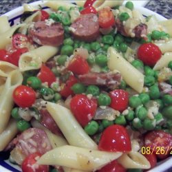 Chicken Sausage With Pasta and Tomato Sauce recipe