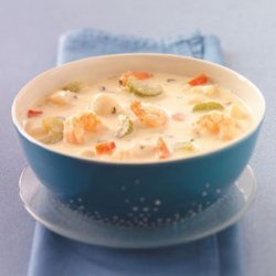 Makeover Creamy Seafood Soup recipe