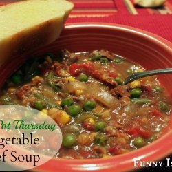 Crock Pot Beef Barley Soup recipe