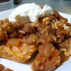 Simple Mexican Rice and Bean Bake recipe