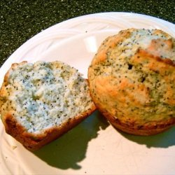 Poppy Seed Muffins With a Hint of Almond recipe