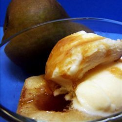 Roasted Pears With Brown Sugar and Vanilla Ice Cream recipe