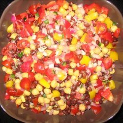 Colorful Chickpea and Black Bean Salad recipe