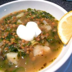 Spinach, Lemon and Lentil Soup recipe