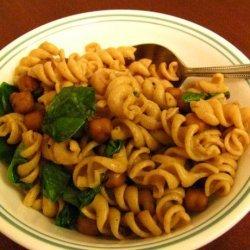 Fusilli with Garbanzo Beans recipe