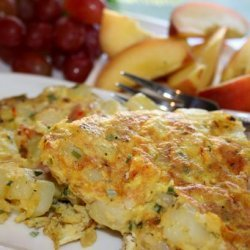 Potato Saffron Omelet recipe