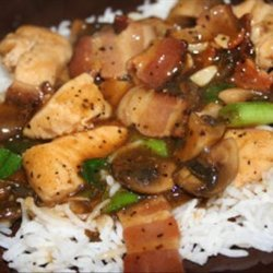 Asian Style Chicken Breasts and Bacon recipe