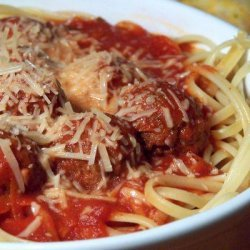 Linguine With Marinara Sauce and Meatballs recipe