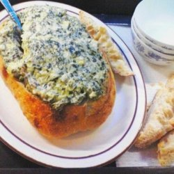 2bleu's Spinach and Artichoke Dip With Bacon recipe