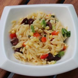 Mediterranean-Style Orzo Salad With Corn recipe
