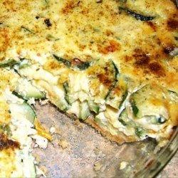 Zucchini 3-Cheese Quiche recipe