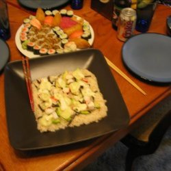 Sushi Pizza recipe