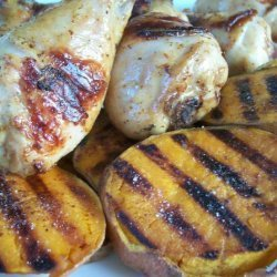 Rachael Ray's Grilled Beer Chicken With Potato Slabs recipe