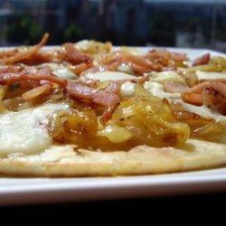 Caramelized Onion & Gorgonzola Pizza recipe