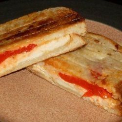 Chicken and Roasted Red Pepper Panini Style Sandwiches recipe