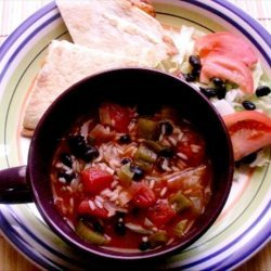Salsa Stoup - Rachael Ray 30 Minute Meals recipe