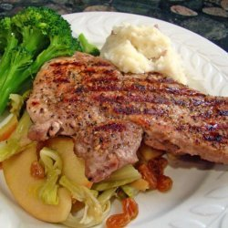 Pork Chops With Cabbage and Apples recipe