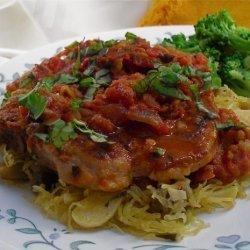 Pork Loin Chops Cacciatore Style recipe