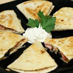Ham and Gouda Quesadilla Snacks recipe