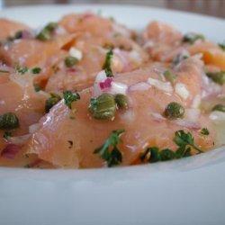 Smoked Salmon Carpaccio With Extra Virgin Olive Oil and Lemon recipe