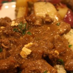 Greek Lamb Stew With Feta recipe