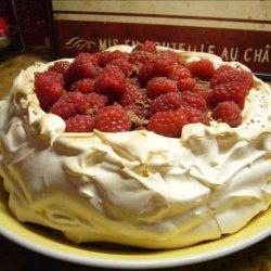 Raspberry Cream Pavlova recipe