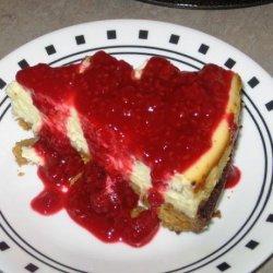 Luscious Lemon Cheesecake With Raspberry Sauce recipe