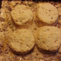 Ground Beef Casserole With Biscuits recipe