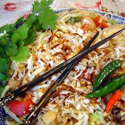 Thai Coconut Rice Noodles With Chicken recipe