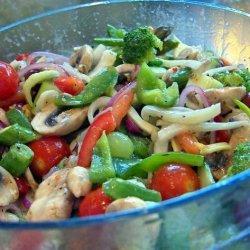 Marinated Veggie Crunch recipe