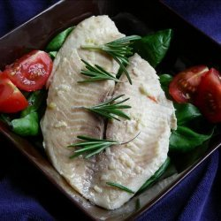 Halibut With Garlic recipe