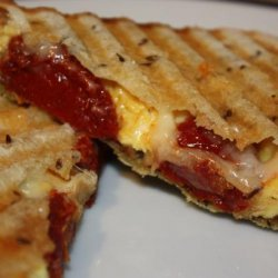 Panini With Scrambled Eggs and Tomatoes recipe