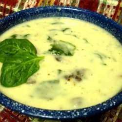 Spinach Sausage and Potato Soup recipe