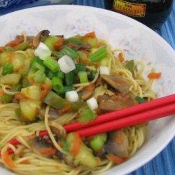 Curry Lo Mein recipe