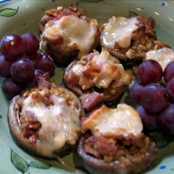Garlic, Bacon, Cheese Stuffed Mushrooms recipe